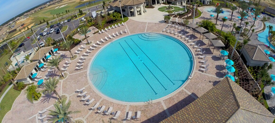Circular lagoon pool at ChampionsGate resort