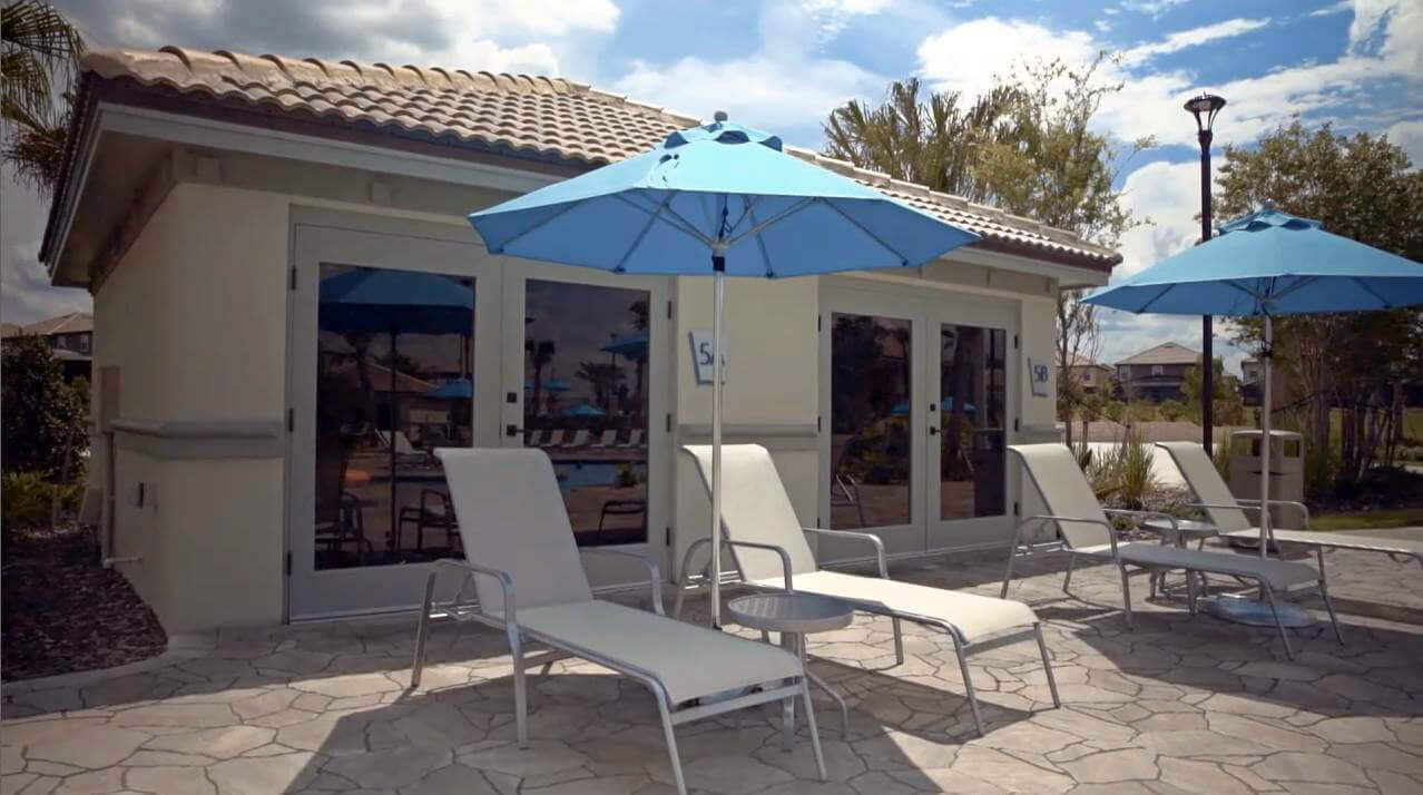 Private cabana rentals at ChampionsGate Resort