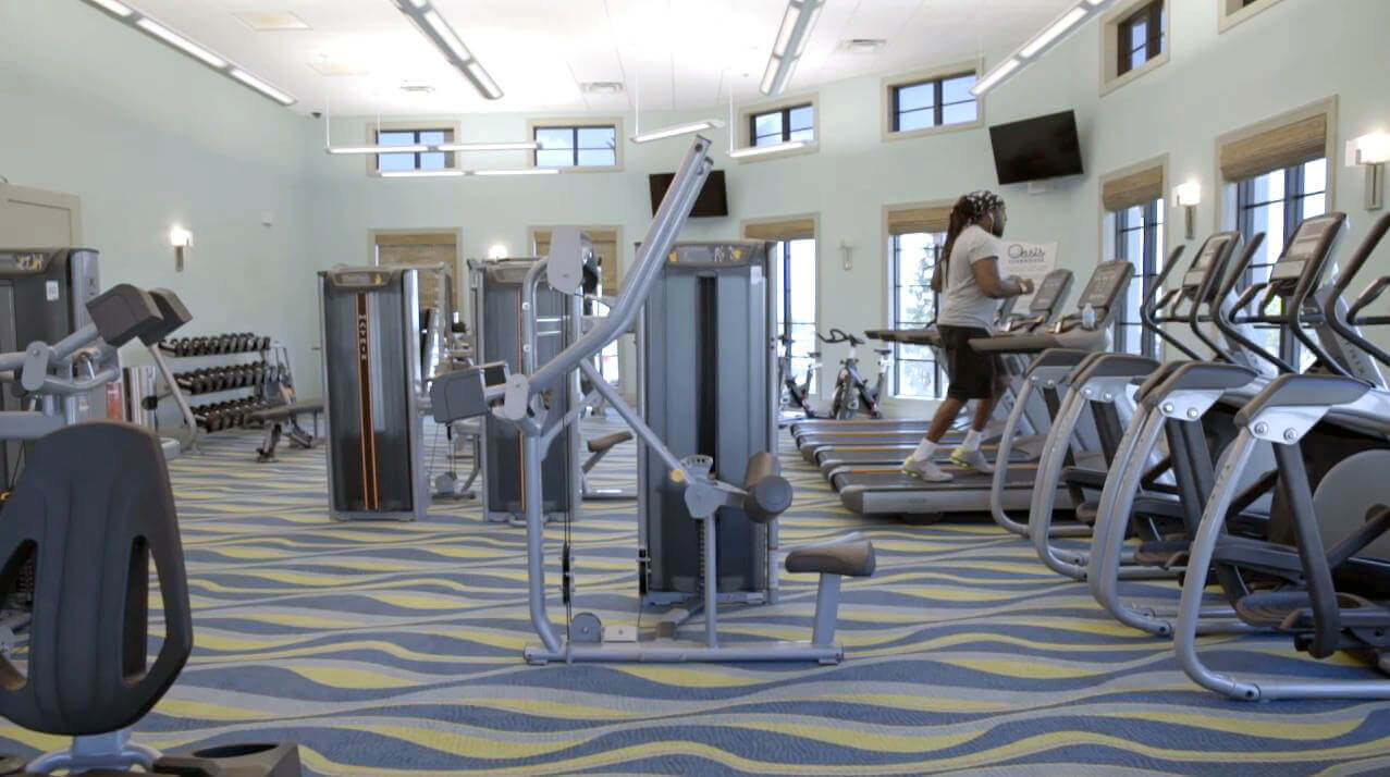 The gymnasium at ChampionsGate Oasis Clubhouse