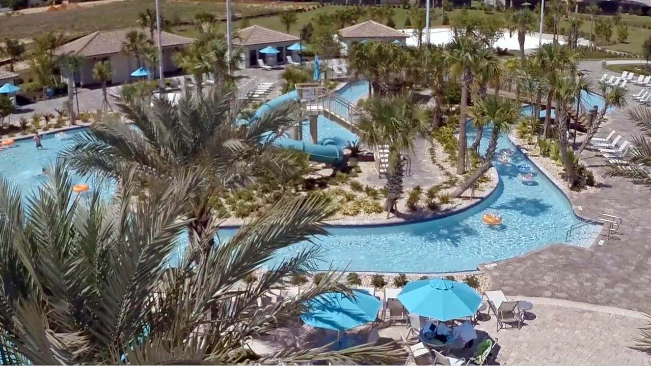 Lazy River at the water park in ChampionsGate