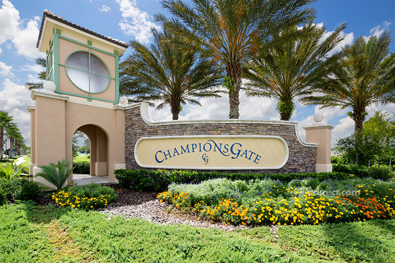 ChampionsGate entrance monument sign