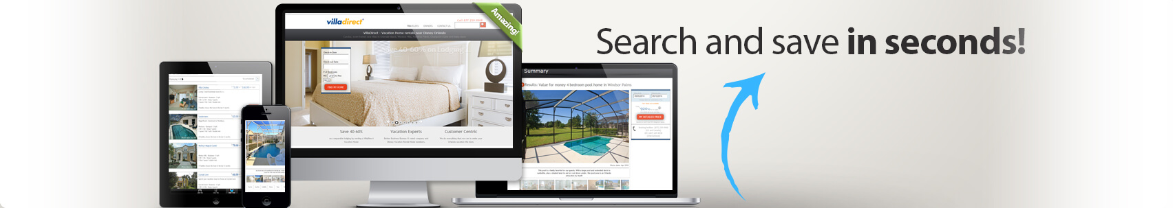 Find a vacation rental with VillaDirect's Home Finder