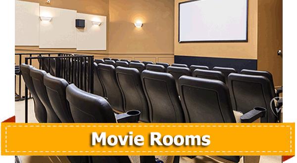 Unique home features movie rooms