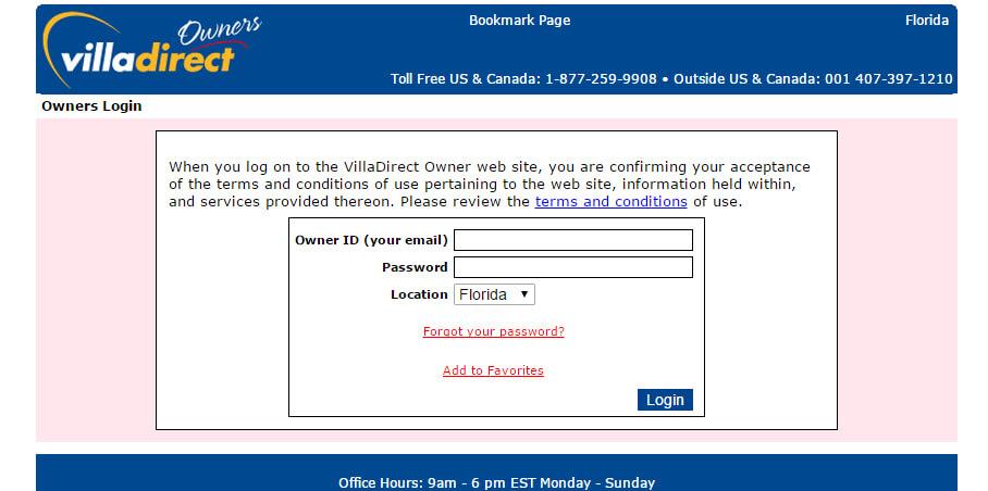 owner portal login