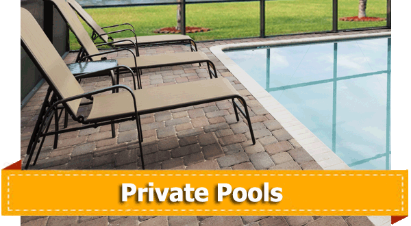 Unique home features private pools