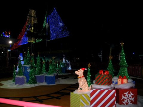 The wonders of the world are all lit up for the holidays at SeaWorld Orlando