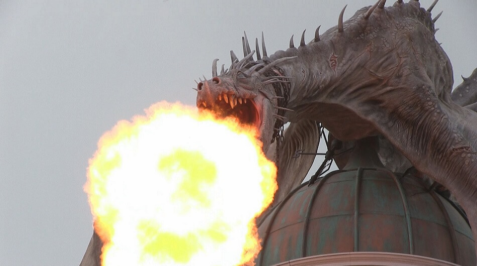 Diagon Alley Dragon Fire