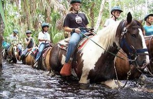 Horseback riding at Forever Florida Orlando Outdoors