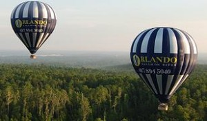 Ride in a hot air balloon with Orlando Balloon Rides Orlando Outdoors