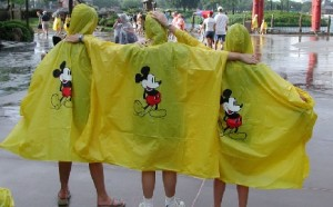 Ponchos Visiting Disney World in Summer