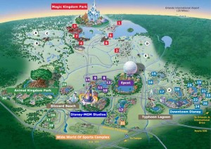 Walt Disney World Map First Trip to Walt Disney World