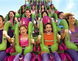 Image of the Hulk roller coaster at Universal Studios Orlando - Orlando vacation rentals from VillaDirect